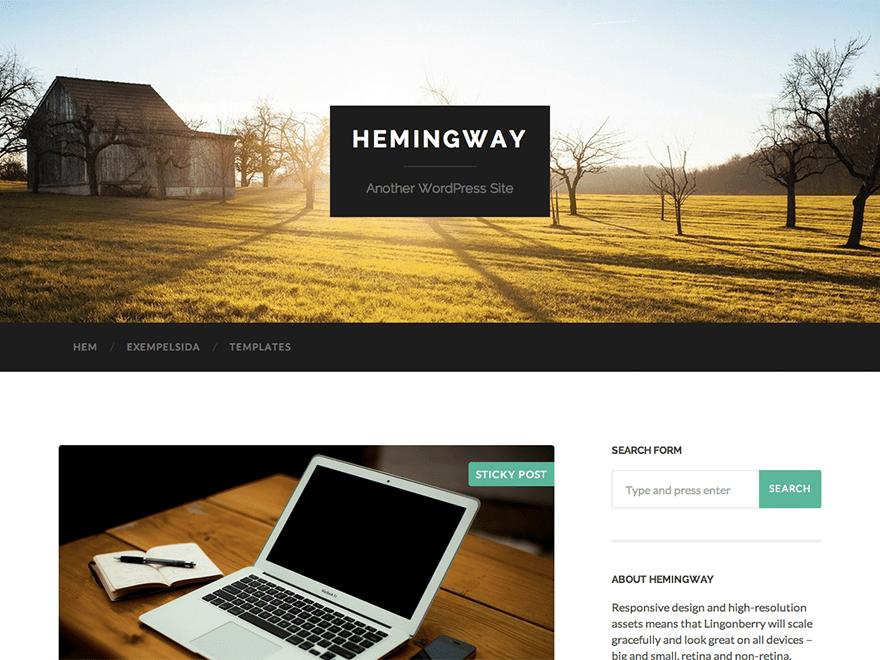 Hemingway WP Theme